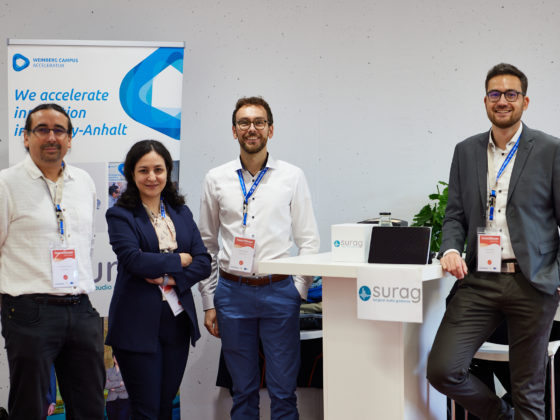 Our team at our booth at the Investofurm.